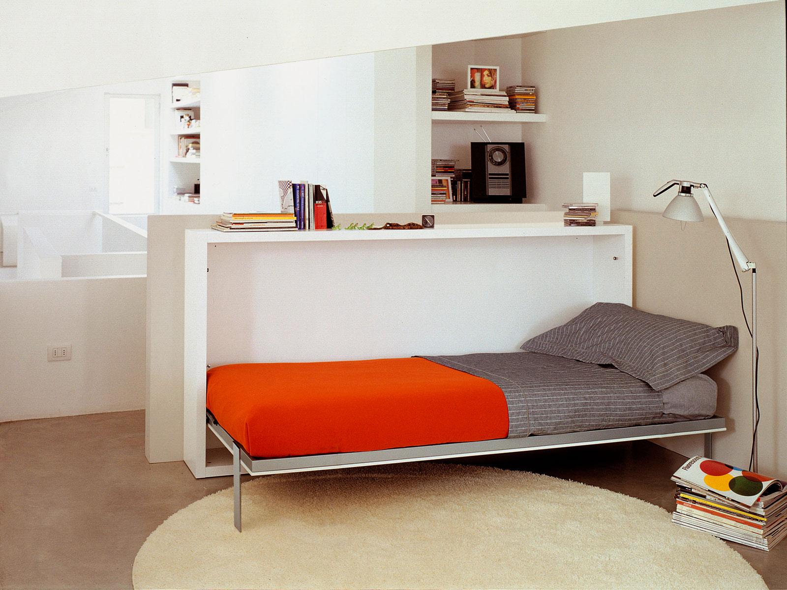 Односпальная встроенная кровать