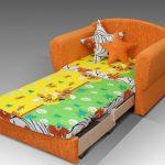 Оранжевое кресло-кровать