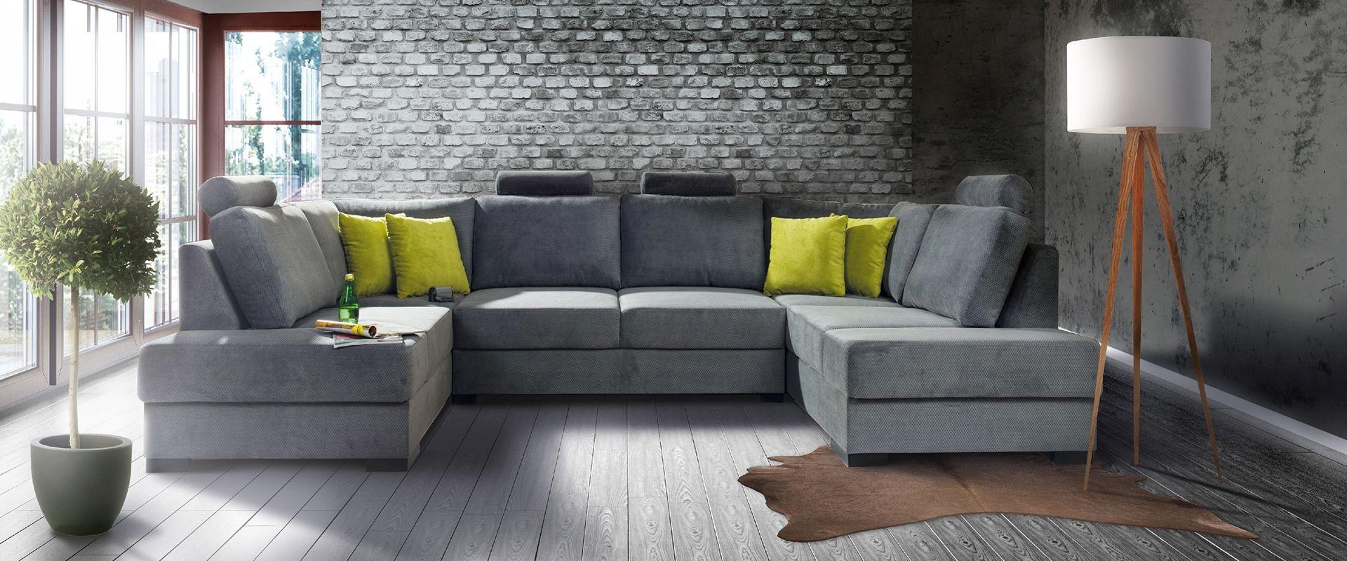 П-образный диван в стиле лофт