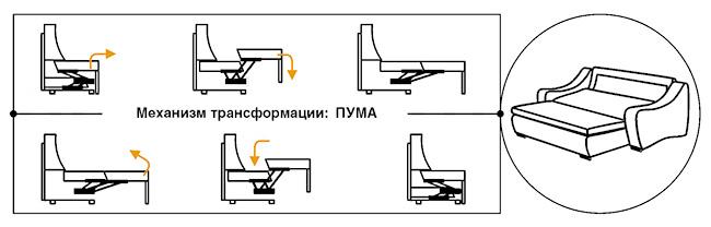 Механизм трансформации пума