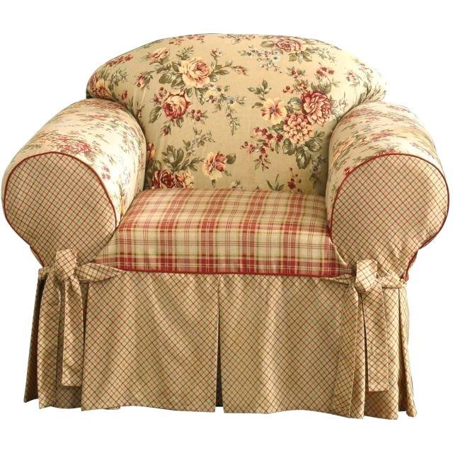 Чехол на кресло шебби-шик