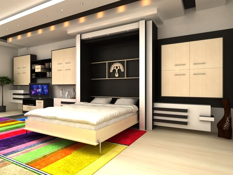 Шкаф-кровать дома