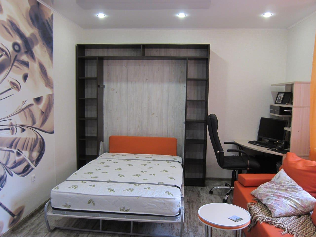 Шкаф-кровать в кабинете