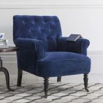 Синее кресло из вельвета