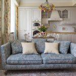 Синий диван прованс
