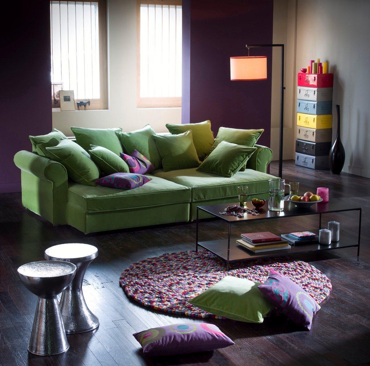 Сочетания зеленого и фиолетового