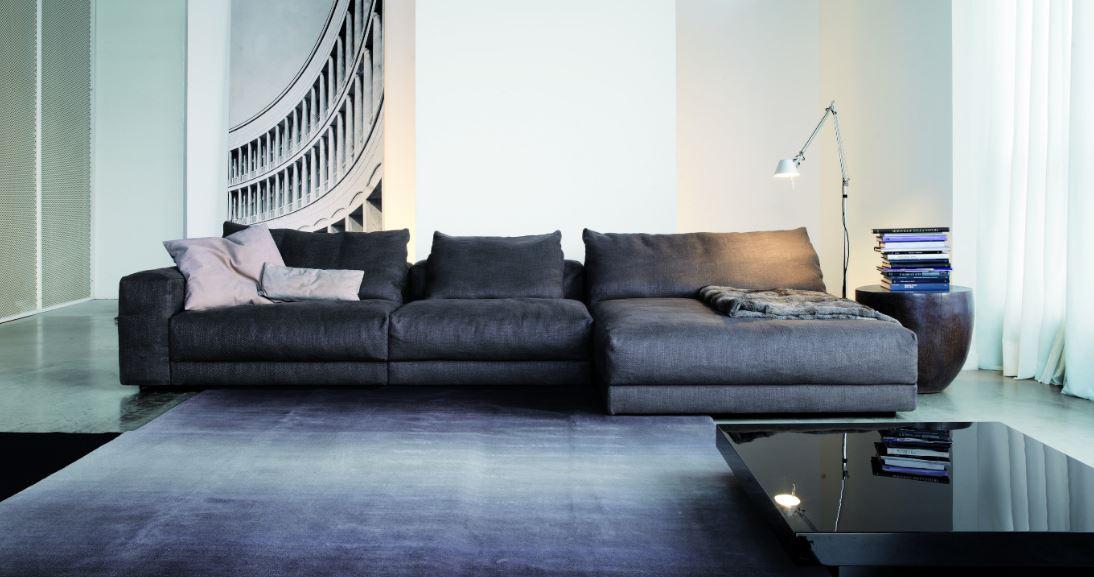 Стильный черный диван