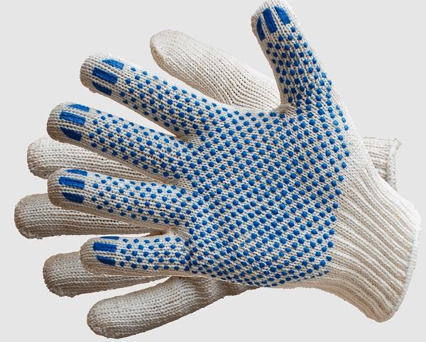 Тканевые перчатки с напылением