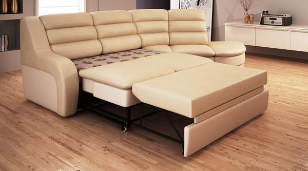 Угловой диван с выкатным механизмом