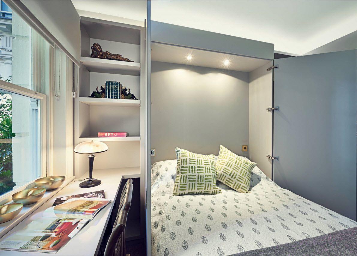 Встроенная в шкаф кровать