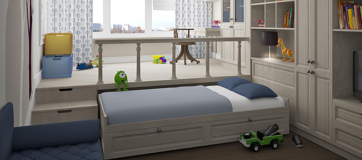 Выкатная кровать-подиум