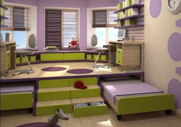 Выкатная кровать в детской