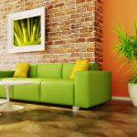 Ярко-салатовый диван