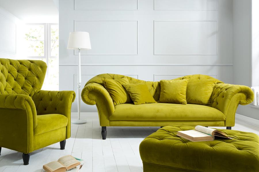 Желтая софа