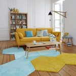Желто-голубой интерьер
