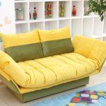 Желтый мини-диван