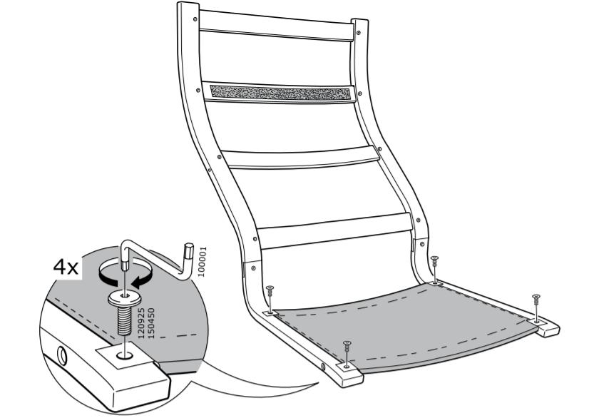 Как собрать кресло от Икеа