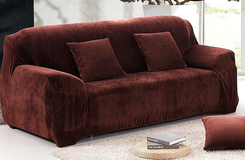 Красно-коричневый замшевый