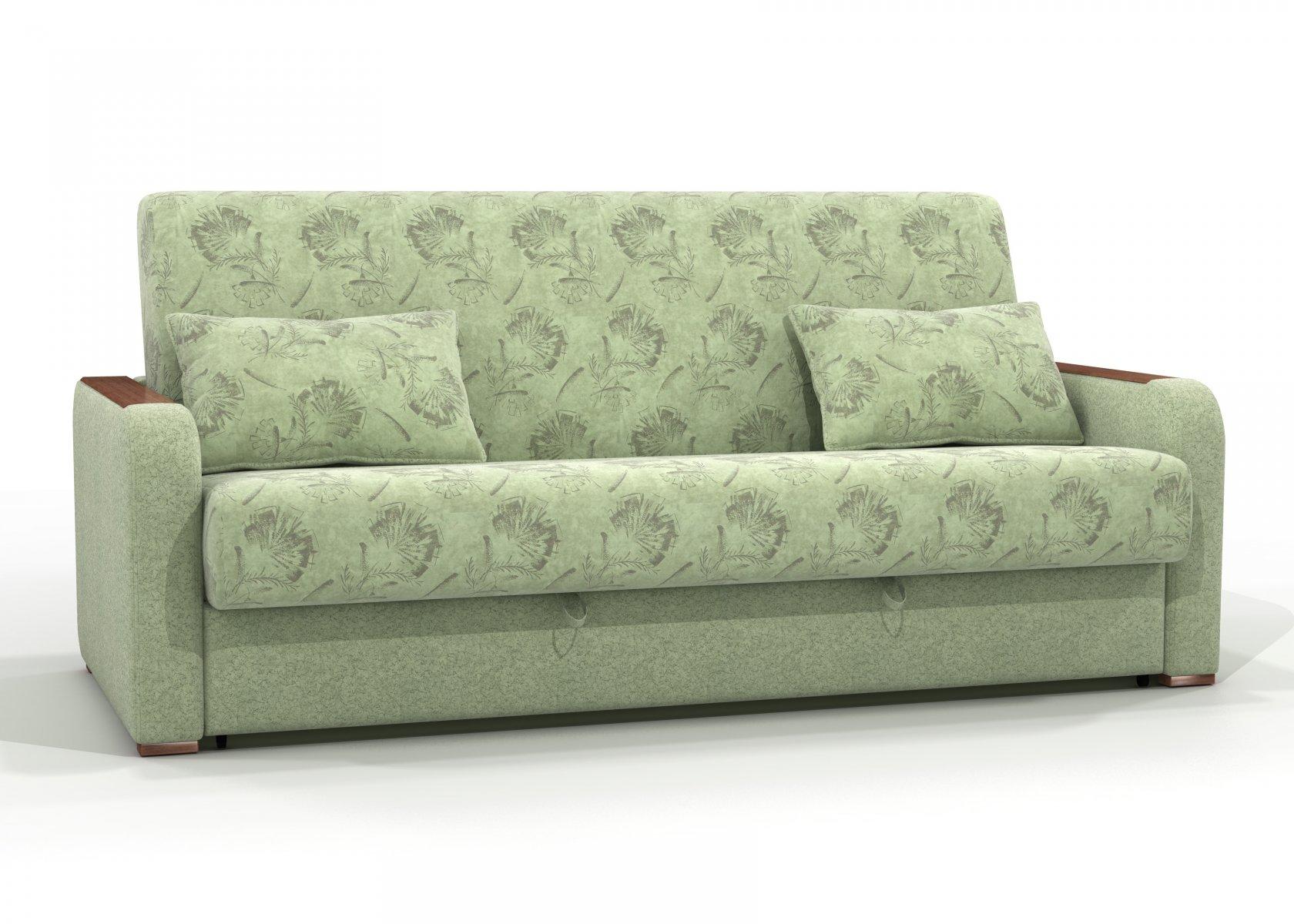Зеленый диван с обивкой из флока