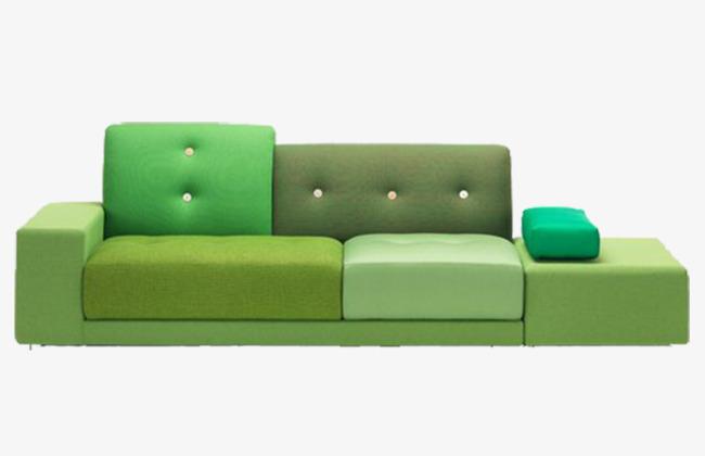Зеленый диван в стиле авангард