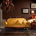Золотистый диван