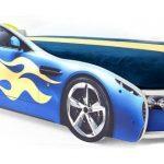 Синяя кровать-машина