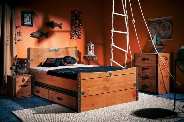 Кровать в пиратском стиле