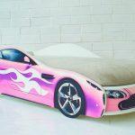 Розовая кровать-машина