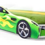 Зеленая кровать-машина