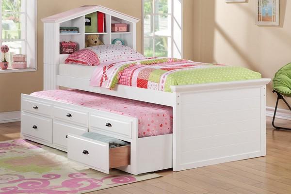 Кровать с 6 ящиками и выдвижной кроватью