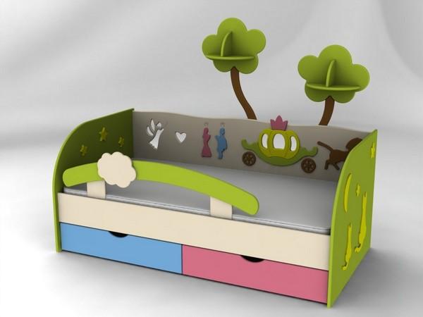 Детская кровать Сказка с ящиками
