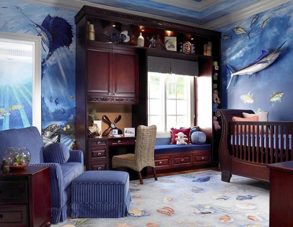 Уютная комната с средиземноморским стилем