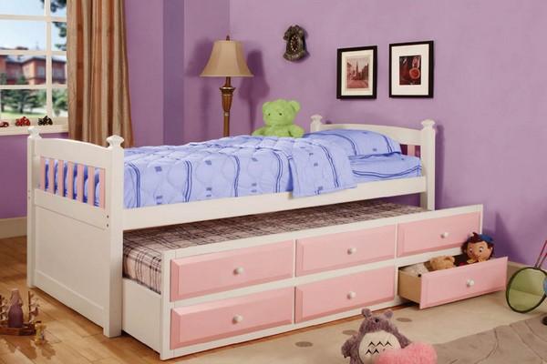 Детская кровать с выдвижными ящиками и спальным местом