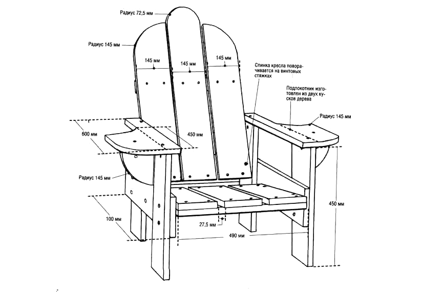 Схема деревянного