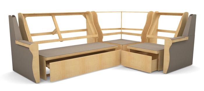 Деревянный каркас углового дивана