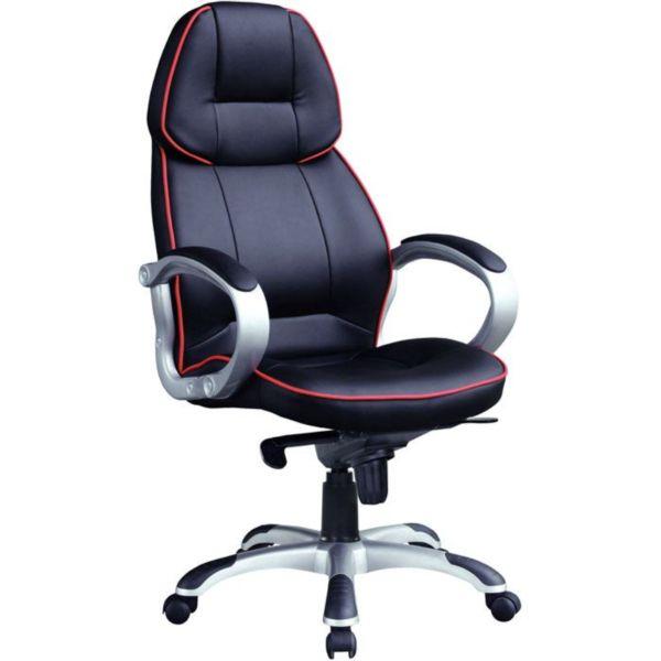 Компьютерное кресло с красной прошивкой