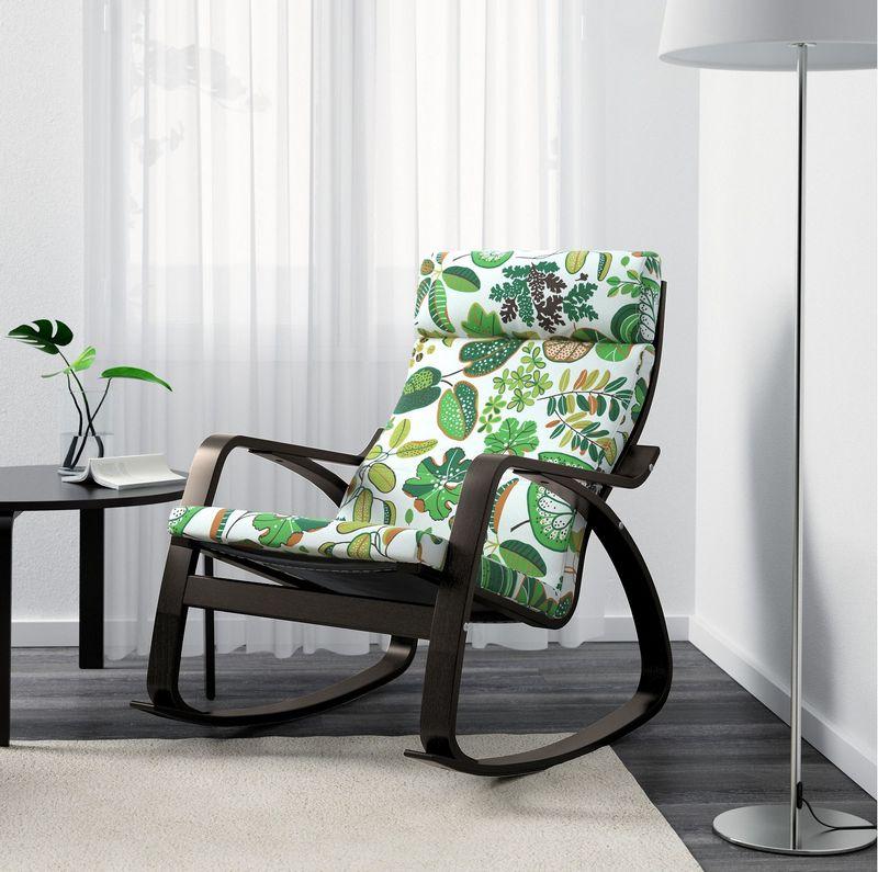 Кресло качалка икеа в интерьере