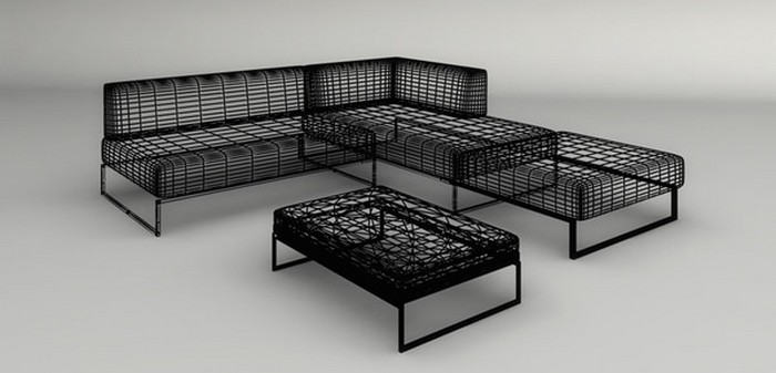 Металлический каркас углового дивана