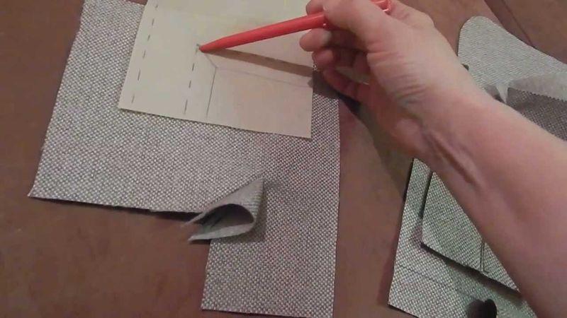 Выкройку переносим на бумагу