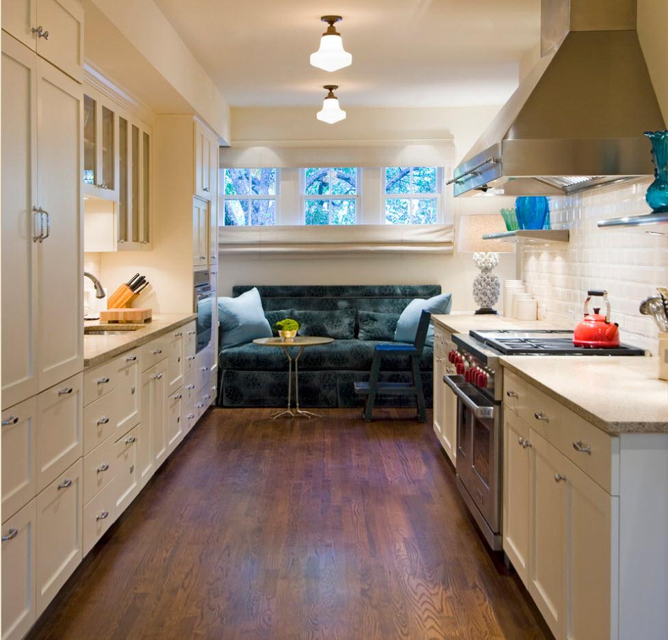 Тканевая обивка кухонного дивана