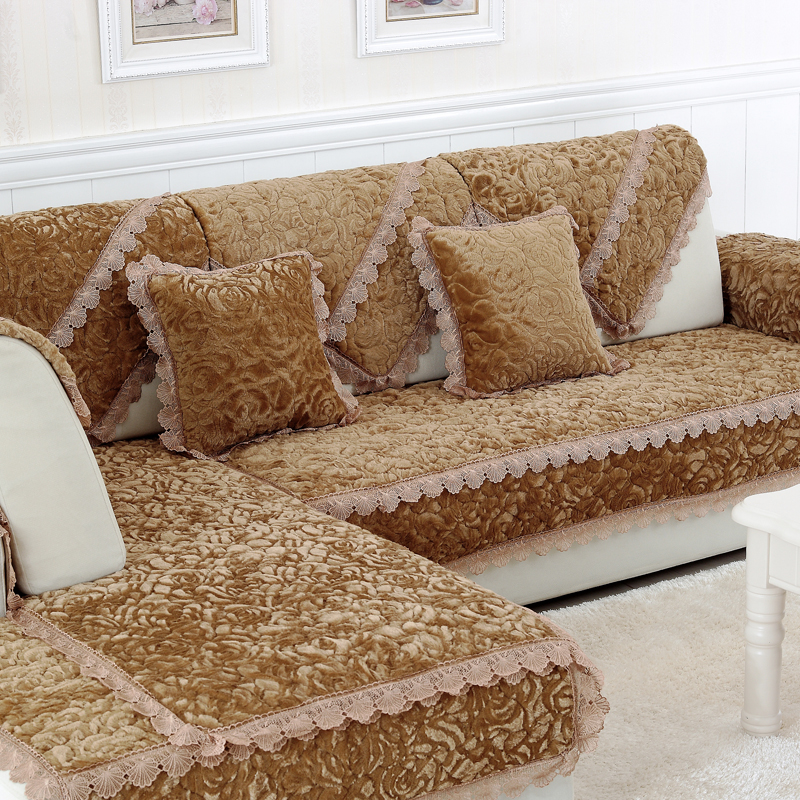 Велюровое покрывало на угловой диван