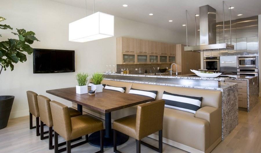 Зонирование пространства в кухне