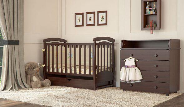 кроватка-маятник для новорожденных