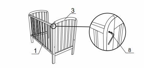 собрать корпус кроватки