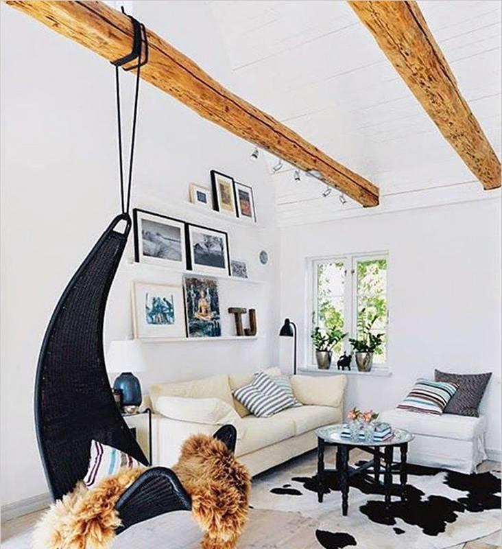 Установка гамака как правильно повесить дома или в квартире Как закрепить на потолке Правила выбора крепежа
