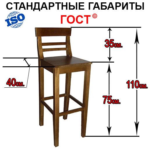 Барные стулья высотой от 55 до 90 см