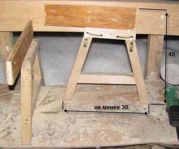 Раскладная скамейка-стол своими руками