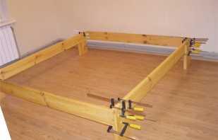 Пошаговые инструкции по изготовлению своими руками каркаса для кровати