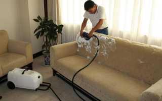 Как в домашних условиях осуществить химчистку дивана своими руками