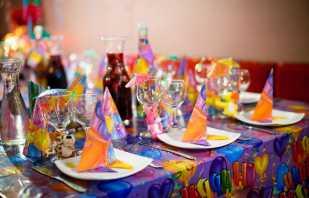 Украшение детского стола на день рождения, идеи оформления праздника